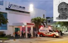 Clínica Jaller, donde falleció el hombre cuando recibía atención médica.