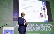 El médico nutriólogo Jorge Eliécer Botero, durante su intervención en el Jumbo.