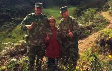 Ejército rescató a niña de once años secuestrada en Nariño