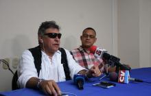 Santrich durante la rueda de prensa en Barranquilla.