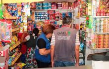Dadis suspendió actividades en tres tiendas que vendían medicamentos