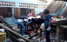 Una persona herida tras desplome del techo de un colegio en Cartagena