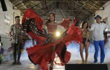 Con Martina 'La Peligrosa' y Twister, Valeria Abuchaibe graba el video de su canción del Carnaval