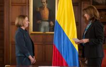Ministra Holguín posesionó a la nueva embajadora de Colombia en Perú