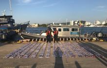 Armada incauta 302 kilos de clorhidrato de cocaína en la bahía de Cartagena