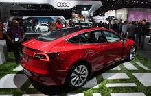 Exhibición del Tesla Model 3.