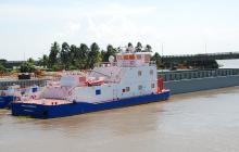 Carga por el río llegó a 2,9 millones de toneladas