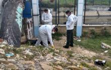 Lugar donde fue hallado el cuerpo sin vida del hombre conocido como 'Trabajito' o Eduardo.