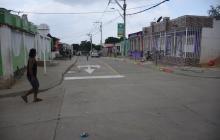 Carrera 8B con calle 60B del barrio El Bosque, donde ocurrió el incidente
