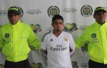 Jhonatan Alberto Navas Pimienta cuando fue capturado en 2015