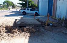Denuncian obra inconclusa en el barrio La Pradera