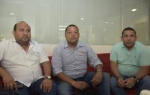 Enrique del Castillo, Ricardo Arcón y Jorge Mejía.