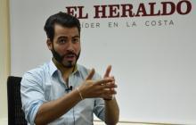 El ganador de 'A otro nivel', Jair Santrich, en su visita a EL HERALDO.