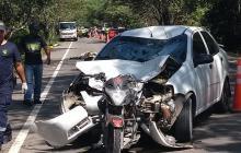 Vehículos accidentados.
