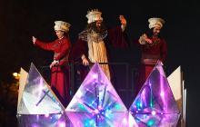 Desfile de la celebración de Reyes celebrado en Madrid, España.