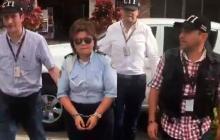 Momentos de la detención de Ruby Bárcenas.