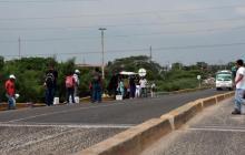 Sector del puente de La Cordialidad donde al parecer se suben los atracadores.