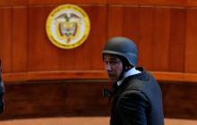 El exfiscal Luis Gustavo Moreno ha comparecido a las audiencias con chaleco antibalas.