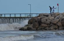 Restricción en playas de Riohacha por fuertes vientos