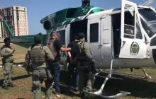 En helicóptero trasladan a Cristian Bellón a la cárcel de Valledupar