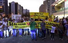 Nuevas protestas en Villa Carolina por construcción de sede del Sena