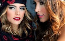 La modelo Vaneza Peláez y Daniela Ospina.