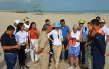Equipo que llegó hasta las playas de La Guajira.