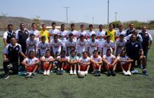 Jugadores y cuerpo técnico de la Selección Atlántico.