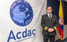 El presidente de Acadc, el capitán Jaime Hernández.