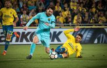 Messi en una acción del juego ante Las Palmas.