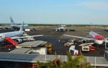 Aeropuerto internacional Rafael Núñez de Cartagena.