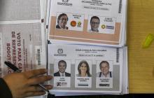 Tarjetas electorales de las consultas interpartidistas populares.