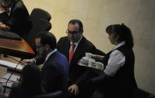 El exmagistrado Jorge Pretelt, en el juicio.
