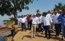 Zona de emergencia en Guáimaro , Magdalena, fue visitada por Cormagdalena, la Gobernación del Magdalena y otras instituciones.