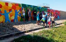 En Las Gardenias, jóvenes dan pinceladas por la convivencia