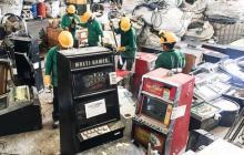 Coljuegos destruye 59 máquinas tragamonedas en Barranquilla