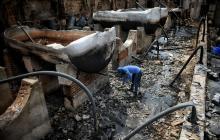 Electricaribe indaga sobre incendio en fábrica de químicos