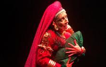 La actriz Eugenia Cano en su obra Puthana Moksha.