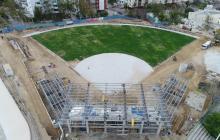 Esta es la panorámica aérea del estadio de sóftbol, escenario que empezó a construirse el 19 de diciembre.