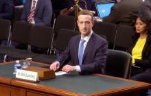 Mark Zuckerberg, presidente de Facebook, cuando se presentaba ante el Senado de EEUU.