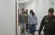Los cuatro detenidos cuando salían de las audiencias preliminares.