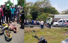 Juan Diego Peralta murió en el sitio del accidente a la altura del municipio de Malambo.