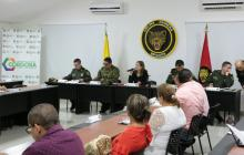 El consejo extraordinario de seguridad se desarrolló en la Brigada XI en Montería.