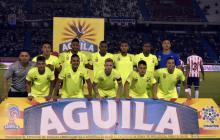 Jugadores del Envigado en su más reciente visita a Barranquilla.