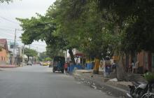 Sector del barrio Montes donde se registró el homicidio.