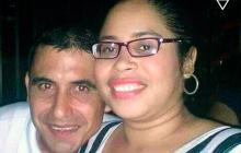 Zulay Patricia Pérez con Jair Álvarez Méndez, el presunto agresor.
