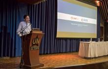 El director del DNP, Luis Fernando Mejía, interviene en el encuentro realizado por Uninorte.