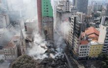 44 desaparecidos deja colapso de edificio en Sao Paulo