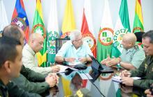 El alcalde Herrera se reunió con la Policía.