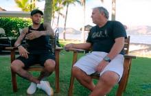 Neymar en entrevista concedida a Zico.